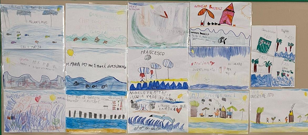 Giornata celebrativa del mare -  Disegni dei bambini I classe